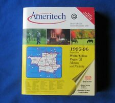 1995 1996 AKRON OHIO CITY AMERITECH PHONE BOOK WHITE YELLOW PAGES telephone  216