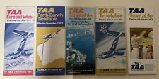 5 VINTAGE 1970 Era TAA  Airlines AUSTRALIA TIMETABLES