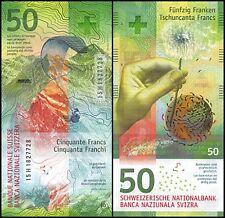 Switzerland 50 Francs, 2015, P-NEW, UNC