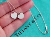 Tiffany & Co Sterling Silver Return To Tiffany Chain Necklace Drop Lariat