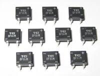 10 X 1 Amp 100 Volt DF01M Full Wave Bridge Rectifiers - 4 Pin DIP PC Board Mount