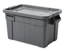 14 Gallon Brute Storage Container Bin Tote Heavy Duty Organizer Snap Lid Plastic