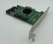 I/O Crest 4 Port SATA III PCI-e 2.0 x1 Card Marvell 9215 Non-Raid SI-PEX40064