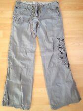 New Look Trousers Cargo Women's Grey Size UK 10