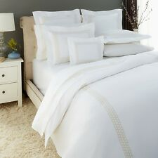 Matouk Liana King Duvet Cover White with Gold Embroidery Z475