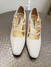 Flings Vintage Heel Ivory Size 9 leather