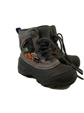 The North Face Boys Snow Boots Waterproof Black Gray Size 12