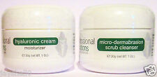 2 X THE BEST MICRODERMABRASION PROBLEM SKIN SCRUB & HYALURONIC ACID MOISTURISER