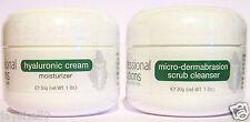 2 X La Mejor Microdermoabrasión problema Piel Scrub & Ácido Hialurónico Crema Hidratante