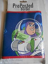 TOY STORY BUZZ AND WOODY PRE-PASTED WALLPAPER BORDER 5 YARDS