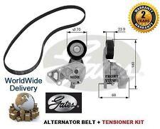 FOR VW SHARAN + VAN 1995-2010 1.9TDI GATES ALTERNATOR FAN BELT + TENSIONER KIT