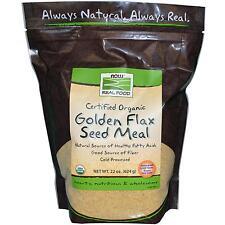 maintenant Foods, véritable Nourriture, doré Graine de lin repas, 625ml (624 G)