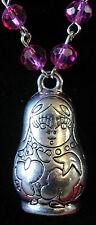 Marvellous matryoshka necklace! beaded rosary doll Russian nesting dolls