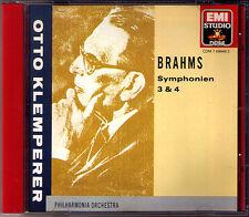 Otto KLEMPERER: BRAHMS Symühony No.3 & 4 Philharmonia Orchestra EMI CD Sinfonien