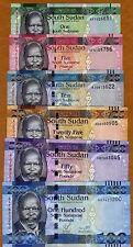 SET South Sudan, 1;5;10;25;50;100 Pounds, 2011, Pick 5-6-7-8-9-10 UNC