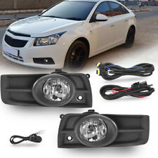 Clear Bumper Lamps Driving Fog Lights+Switch+Bezels For 2011-2014 Chevy Cruze Us