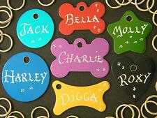 ^ BUY 2 tags get 1 FREE ^ Dog ID tag Pet Tag * inc. Hand Engraving + Split ring