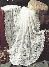 PRETTY BABY 3 PLY SHAWL IDEAL CHRISTENING KNITTING PATTERN  (1031)