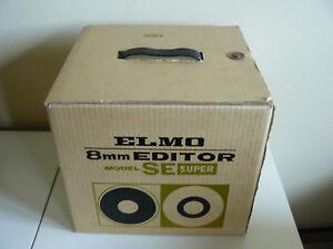 Vintage Elmo 8mm Editor model SE Super, boxed with instructions