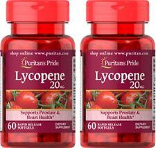 LYCOPENE 20mg HEART & MENS PROSTATE HEALTH ANTIOXIDANT SUPPLEMENT 120 SOFTGELS