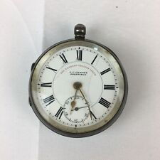 Antique 1902 Solid Silver Express English Lever J G Graves Pocket Watch A/F