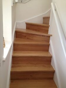 L -shape 15 solid Oak Stairs Cladding inc 3 winders - TREADS ONLY( Not Risers )