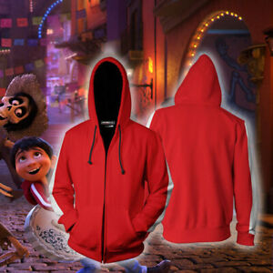 Anime Coco Hector Rivera Cosplay Costume Hoodies Coat 3D Print Sweatshirt