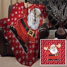 Rouge Père Noël design polaire Design Doux Couverture polaire Housse L&S motifs