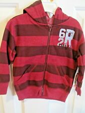 Nwt Arizona boys 9 Months zipped hooded sweatshirt, maroons, Msrp $30