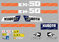 KUBOTA kh50 Mini Escavatore decalcomania Set