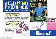 PUBLICITE ADVERTISING 126  1986  radio Europe 1 (2p) jeu dingo-dès  S Collarol