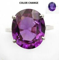 8CT Color Changing Alexandrite 925 Sterling Silver Ring Jewelry Sz 6, EA18-6