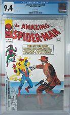 🌟 CGC 9.4 NM AMAZING SPIDER-MAN #26 GERMAN EDITION 🔑 1st CRIME MASTER Panini