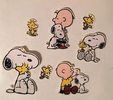 Snoopy, Charlie Brown And Woodstock  - Iron On Fabric Appliques - Peanuts