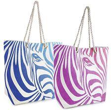 Summer Bags Ladies Zebra Print Handle Shoulder Bag