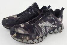 Reebok Mens Boys Size 5 ZigWild TR2 Zig Tech Camo Shoes Black Gray Rare Limited