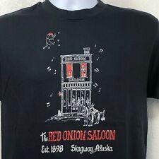 New listing Red Onion Saloon Skagway Ak Vtg 80s Hanes 50/50 T-Shirt sz L Single Stitch Usa