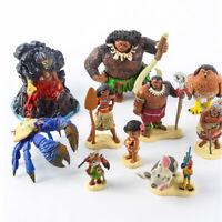 1 Set of 10 Disney Princess Moana Figures Figurines Cake Ornament Toy 5-11cm