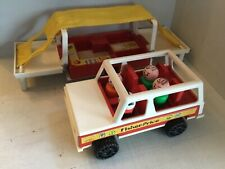 Fisher-Price   Jeep & Pop-up Camper set-1979 little people