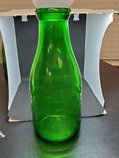 GREEN QUART MILK BOTTLE WECKERLE FARM DAIRY BUFFALO, NY RARE New York