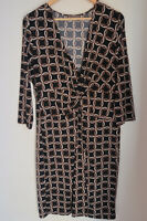 Size L JACQUI E Women's Evening Dinner Party Work Dress 3/4 Sleeves Knee Length