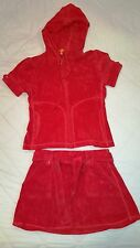 Juicy Couture size S Small terry set short sleeve hoodie and skirt