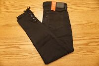 NWT WOMEN'S LEVI JEANS 711 Multiple Sizes Ankle Skinny Mid Rise Lace Up Black