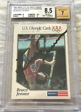 Bruce Jenner certified autograph signed 1991 Impel US Olympic card grade BGS 8.5