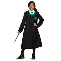 Child Harry Potter Slytherin Uniform Draco Malfoy Halloween Costume Robe S M L