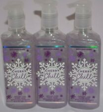 3 BATH & BODY WORKS CHERRY CHILL CREAMY LUXE HAND SOAP WITH SHEA EXTRACT 8 FL OZ