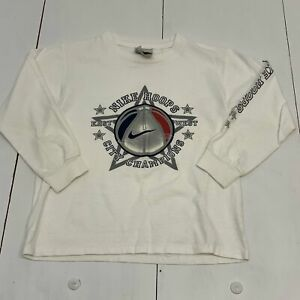 Nike Kids Boy's Shirt Size Small (8) White Long Sleeve Basketball