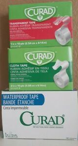 "24 Rolls Curad All Purpose Adhesive Tape 2""x10 yds & 1""x10 yds READ BELOW"