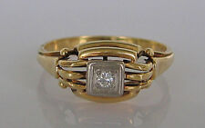 🌹Nice🌹  Brillantringe in aus 585 Gold Ring mit Brillant Diamant Brillanten alt