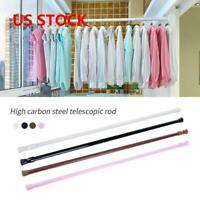 Spring Loaded Extendable Telescopic Net Voile Tension Curtain Rail Pole Rods M